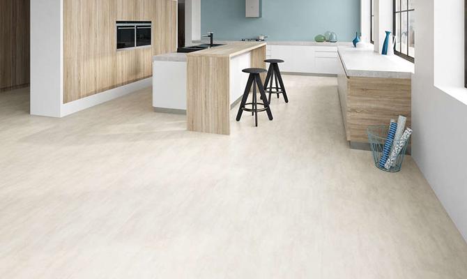 Weißer Metallstein-Fußboden
