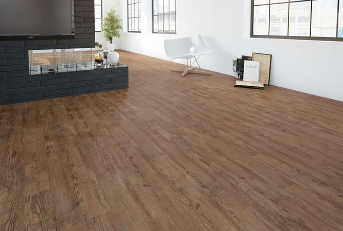 Reparierter Design-Fußboden